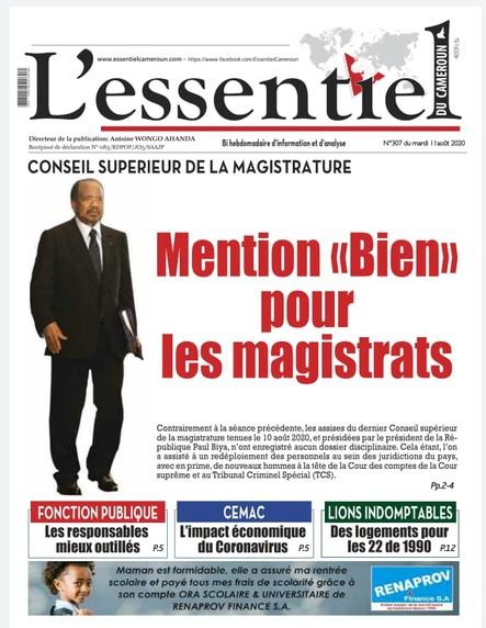 L'essentiel du Cameroun numéro 307