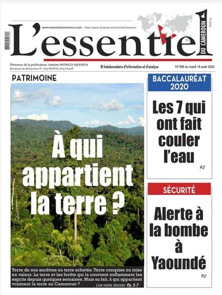 L'essentiel du Cameroun numéro 308