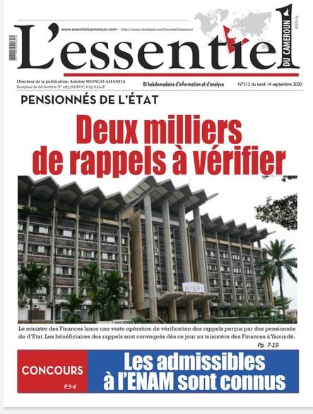 L'essentiel du Cameroun numero 312