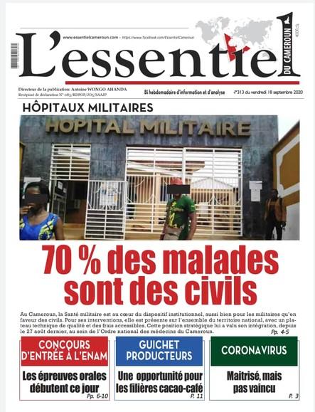L'essentiel du Cameroun numéro 313