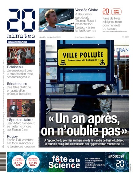 20 Minutes Edition Nationale - 24 Septembre 2020