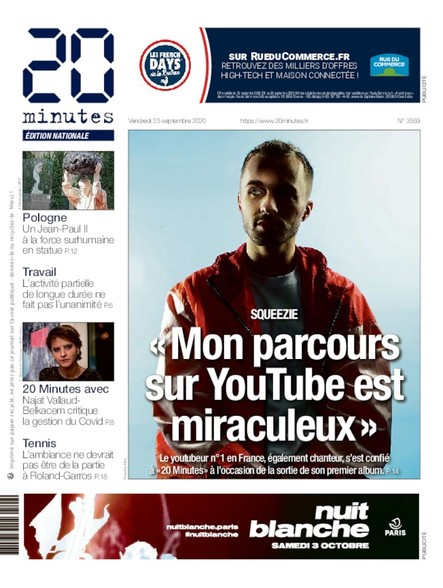 20 Minutes Edition Nationale - 25 Septembre 2020