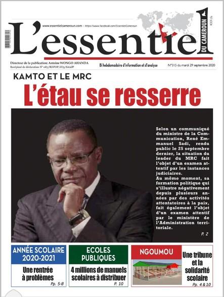 L'essentiel du Cameroun numéro 315