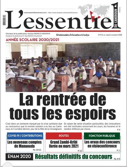 L'essentiel du Cameroun numéro 316