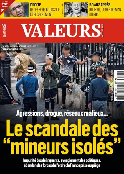 Valeurs Actuelles - Octobre 2020 - Le scandale des mineurs isolés