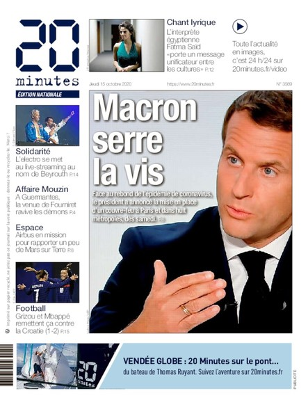 20 Minutes Edition Nationale - 15 Octobre 2020