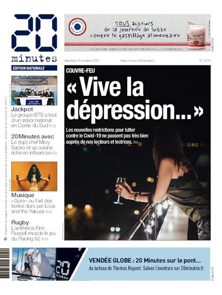 20 Minutes Edition Nationale - 16 Octobre 2020