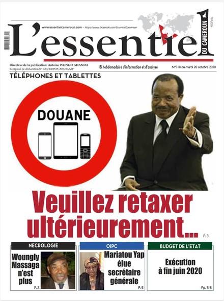L'essentiel du Cameroun numero 318
