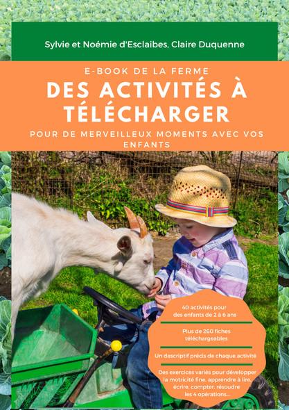 Ebook Montessori Ferme : 179 pages d'activités à télécharger sur le thème de la ferme pour vos enfants de 2 à 6 ans.