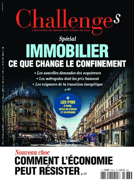 Challenges - Novembre 2020 - Immobilier, ce que change le confinement