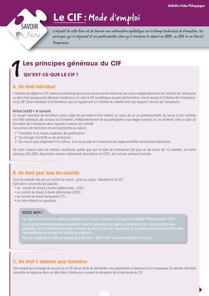 Le CIF (Congé Individuel de Formation), mode d'emploi