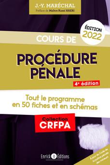 Cours de procédure pénale (Édition 2022) | Jean-Yves Maréchal