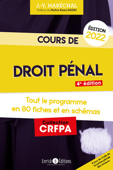 Cours de droit pénal (2022) | Jean-Yves Maréchal