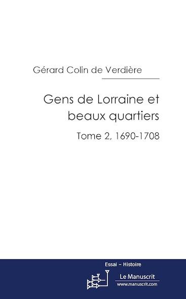 Gens de Lorraine et beaux quartiers, tome 2