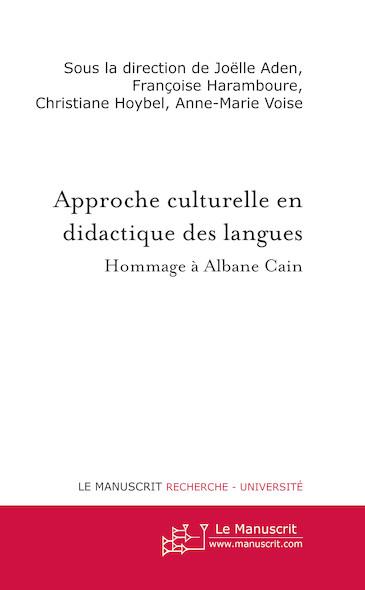 L'approche culturelle en didactique des langues