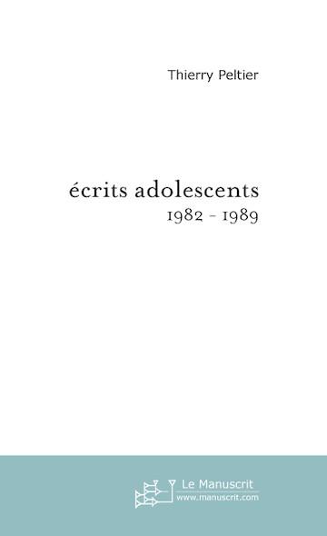 écrits adolescents