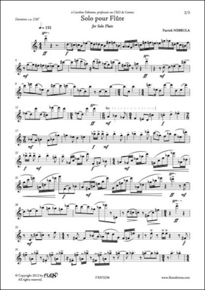 Solo pour Flûte P. NEBBULA Flûte Solo