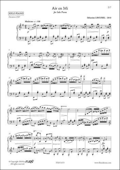 Air en Mi S. LIBOUREL Piano Solo
