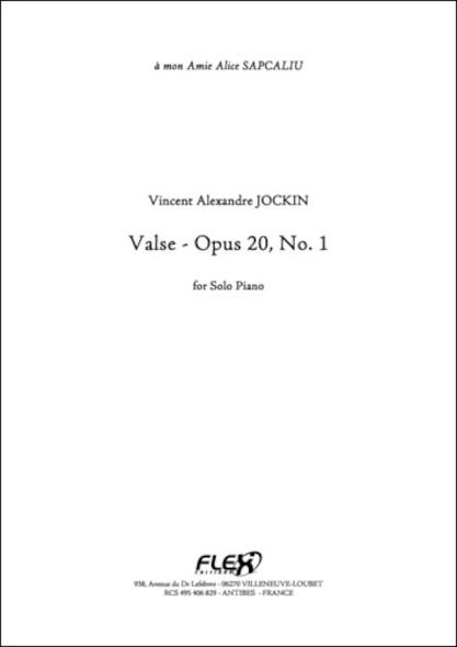 Valse Opus 20 No. 1 V. A. JOCKIN Piano Solo