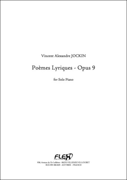 6 Poemes Lyriques Opus 9 V. A. JOCKIN Piano Solo