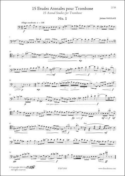 15 Etudes Atonales J. NAULAIS Trombone Solo