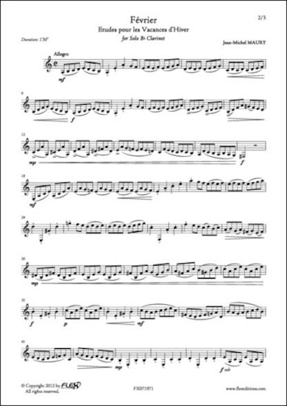 Fevrier J.-M. MAURY Clarinette Solo