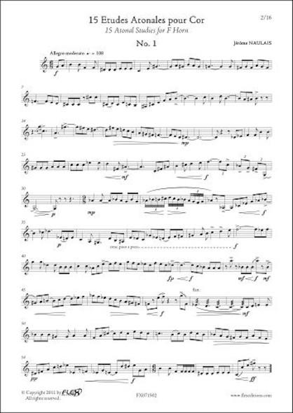 15 Etudes Atonales J. NAULAIS Cor Solo