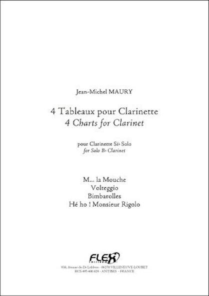 4 Tableaux pour Clarinette J.-M. MAURY Clarinette Solo