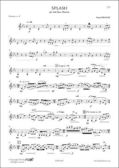 Splash P. PROUST Clarinette Basse Solo