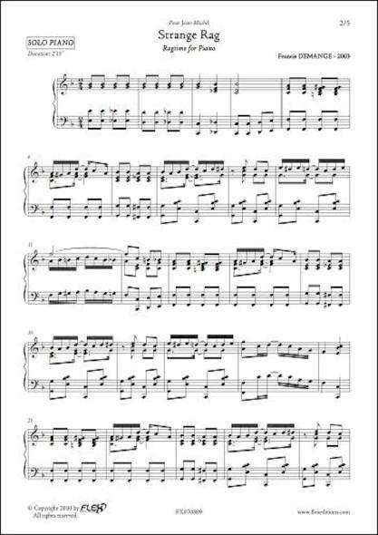 Strange Rag F. DEMANGE Piano Solo