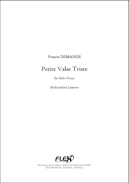 Petite Valse Triste F. DEMANGE Piano Solo
