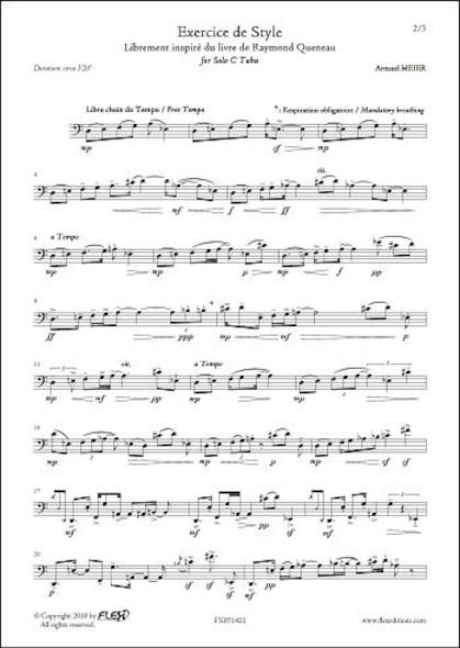 Exercice de Style A. MEIER Tuba Solo