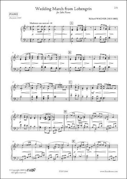 Marche Nuptiale de Lohengrin R. WAGNER Piano Solo