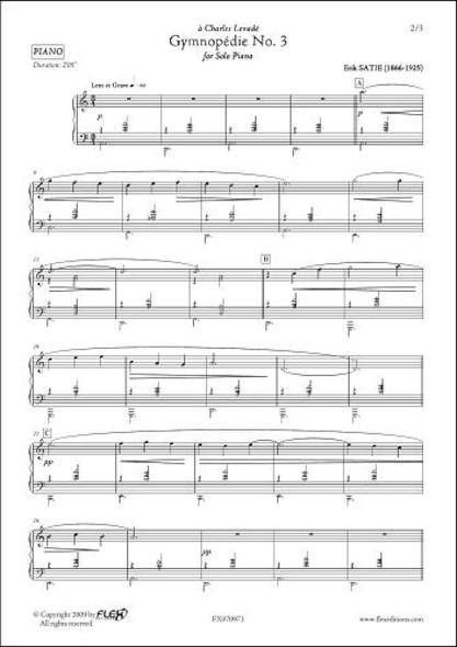 Gymnopédie No. 3 E. SATIE Piano Solo