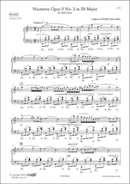 Nocturne Opus 9 No. 2 en Mib Majeur F. CHOPIN Piano Solo