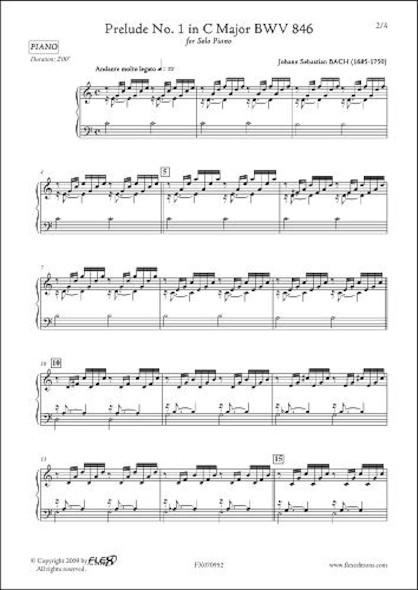 Prélude No.1 en Do Majeur BWV 846 J.S. BACH Piano Solo