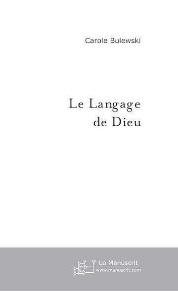Le langage de Dieu