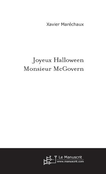 Joyeux halloween Monsieur McGovern