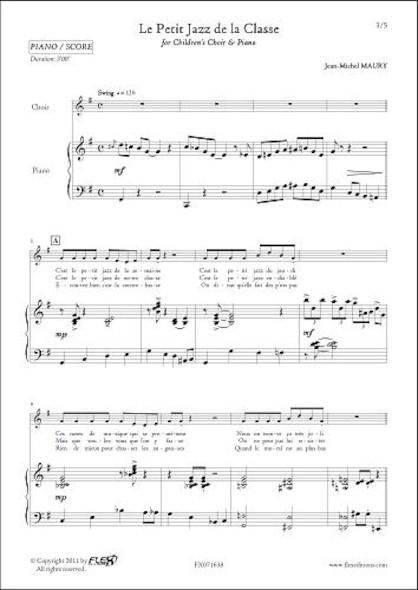 Le Petit Jazz de la Classe - J.-M. MAURY - Chorale d'Enfants et Piano