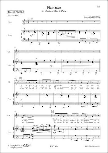 Flamenco - J.-M. MAURY - Chorale d'Enfants et Piano