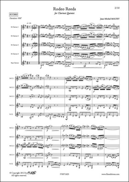 Rodeo Reeds - J.-M. MAURY - Quintette de Clarinettes
