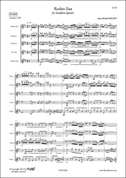 Rodeo Sax - J.-M. MAURY - Quintette de Saxophones