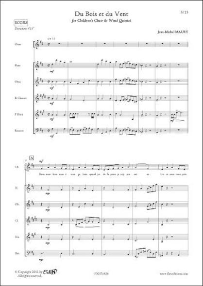 Du Bois et du Vent - J.-M. MAURY - Chorale d'Enfants et Quintette à Vent