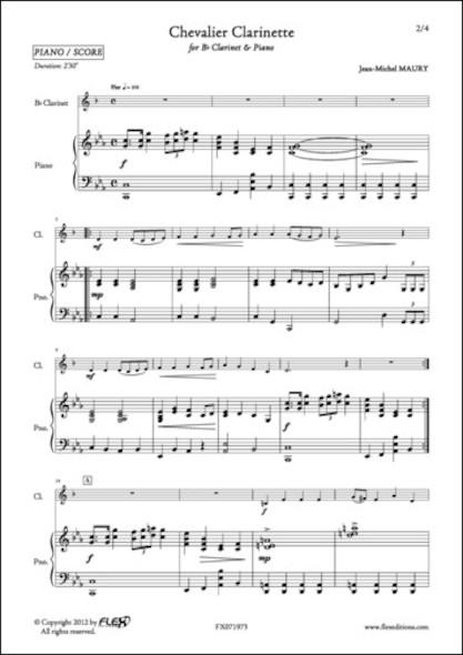 Chevalier Clarinette - J.-M. MAURY - Clarinette et Piano