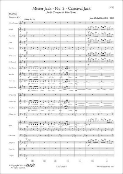 Mister Jack - No. 3 - Carnaval Jack - J.-M. MAURY - Trompette Solo & Orchestre d'Harmonie