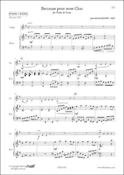 Berceuse pour mon Chat - J.-M. MAURY - Violon & Piano