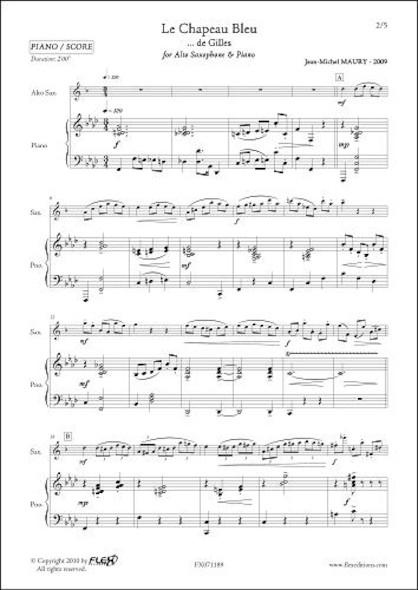 Le Chapeau Bleu - J.-M. MAURY - Saxophone Alto & Piano