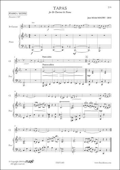 Tapas - J.-M. MAURY - Clarinette