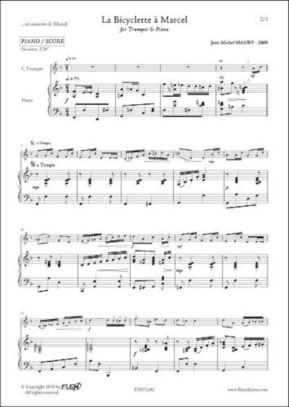 La Bicyclette à Marcel - J.-M. MAURY - Trompette & Piano