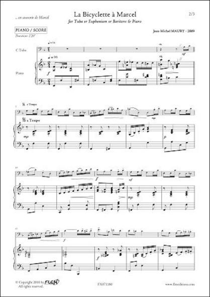 La Bicyclette à Marcel - J.-M. MAURY - Tuba/Euphonium & Piano